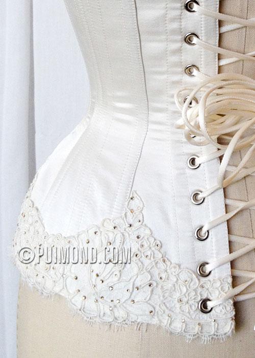 Swarovski Crystals Amp French Lace Bridal Corset Puimond